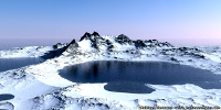 Simkea-Ortschaft:Inseln des gefrorenen Feuers